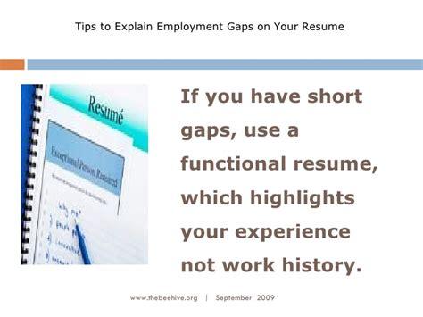 History Resume Tips spotty work history resume tips