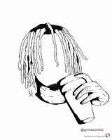 Lil Coloring Pump Gucci Pages Gang Printable Uzi Vert Fan Print Template Wayne Yachty Sketch Bettercoloring sketch template