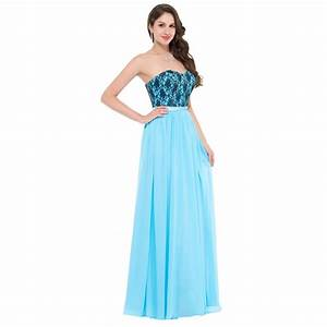 cheap floor length corset appliques blue long bridesmaid With empire waist dress for wedding guest