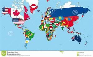 De wereldkaart vector illustratie Illustratie bestaande