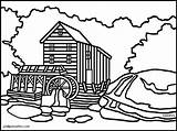 Clipart Mill Virginia Coloring Gristmill West Grist Pages Watermill Creek Clip Clipartpanda 20clipart Landmarks Cartoon Famous Cliparts Glade Terms Clipground sketch template