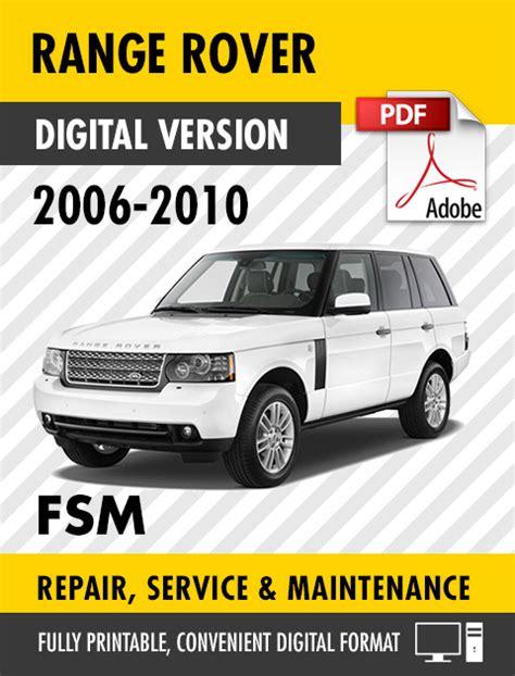 car repair manuals online pdf 2006 land rover lr3 transmission control 2006 2010 land rover range rover factory repair service manual s manuals
