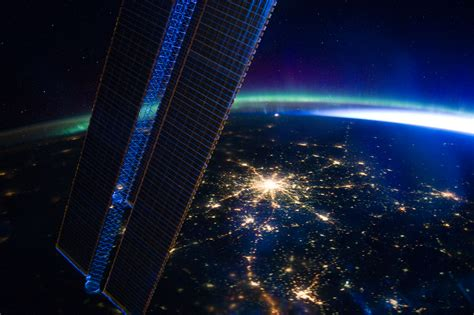 Photo Moscow Seen At Night From The International Space