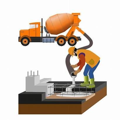 Concrete Beton Giessen Arbeiter Mixer Sind Truck
