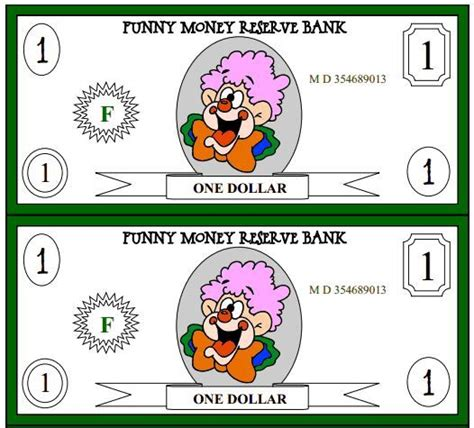 7 Best Images Of Printable Funny Money  Printable Money Templates, Free Printable Funny Money