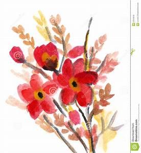 Blumen Bilder Gemalt : rote blumen gemalt im aquarell stock abbildung illustration von graphik schwarzes 27610518 ~ Orissabook.com Haus und Dekorationen