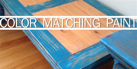 Color Matching Paint For Furniture, Walls, Or Anything At
