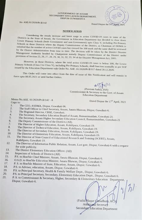 COVID-19: Primary schools in Assam to remain close till ...