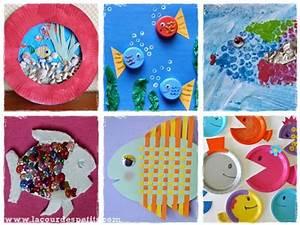 Bricolage A Faire Avec Des Petit : 12 bricolages poissons pour le 1er avril la cour des petits ~ Melissatoandfro.com Idées de Décoration