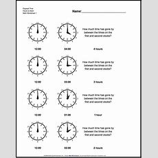 Free Math Worksheets For Analog Elapsed Time Problems With Answer Key  Math Worksheets
