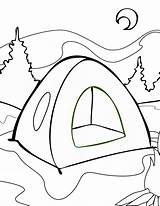 Camping Coloring Pages Drawing Tent Print Getdrawings sketch template