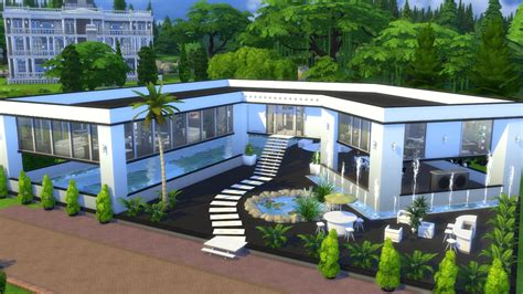 decorative sims luxury homes the sims 4 grey home 176