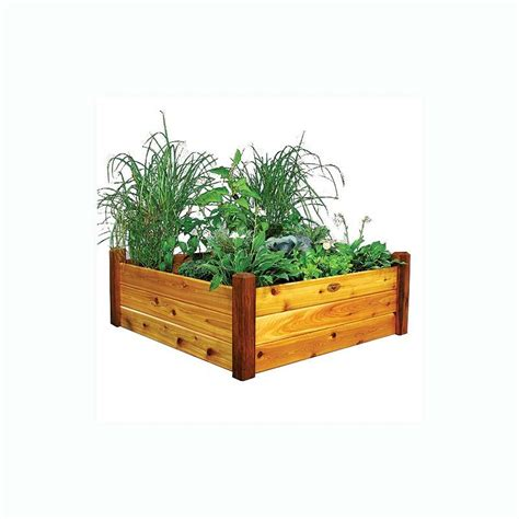 gronomics raised garden bed gronomics raised garden bed 48x48x19 safe finish