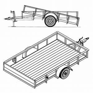 6 U20194 U2033 X 10 U2032 Utility Tilt Trailer Plans  U2013 Model 1110t