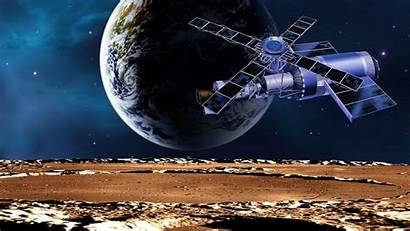 Iss Earth Moon Station Space Planet Background