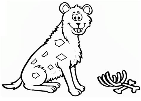 Grinning Hyena Coloring Page
