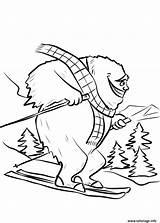 Yeti Coloring Ski Bigfoot Dessin Coloriage Fait Printable Slope Colorare Sheet Disegni Colouring Sugli Dzieci Dla Rysunek Obraz Kolorowanka Animali sketch template