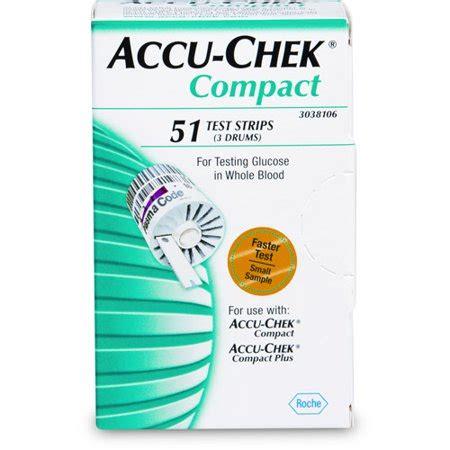 accu chek compact blood glucose test strips ct