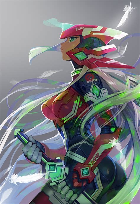 Female Zero Mega Man X Mega Man Zero Series Artwork By