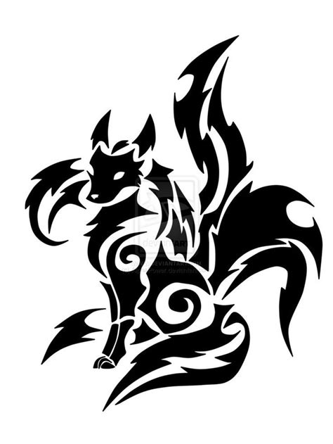 Pin by Spencer Haynes- Littman on Nine Tails | Tattoo designs, Tribal drawings, Art sketches