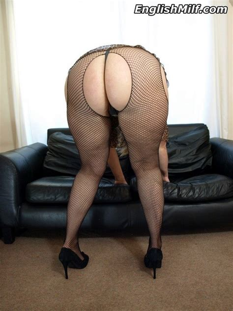 Daniella English Showing Her Milf Cunt In Fishnets