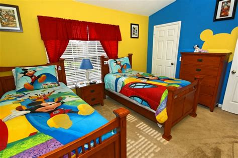Kid's Disney Themed Room With Mural  Home Ideas