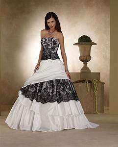 Jodi lynn39s blog black and white wedding dresses aren 39t for Black white wedding dresses