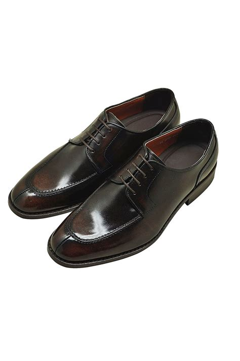 Cowhide Leather Shoes by Brown Genuine Cowhide Leather Lace Up Oxfords Shoes