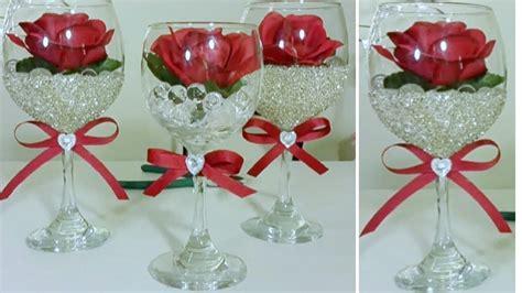 diy bling dollar tree wine glass decor inexpensive diy youtube