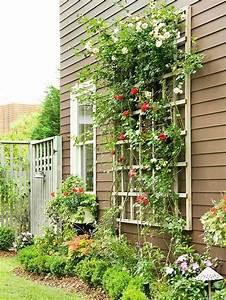 Vertikale Gärten Anlegen : vertikale fassade deko holz rankger st kletterrosen ~ Michelbontemps.com Haus und Dekorationen