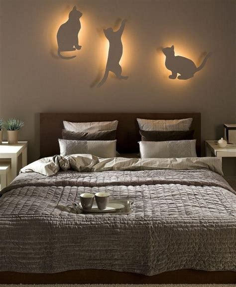 diy bedroom lighting and decor idea for cat