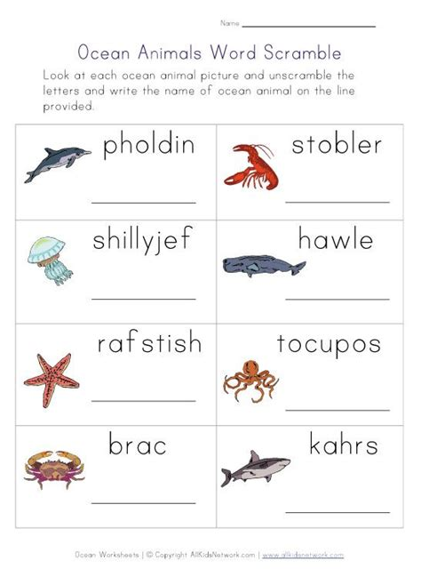 word scramble worksheet worksheets