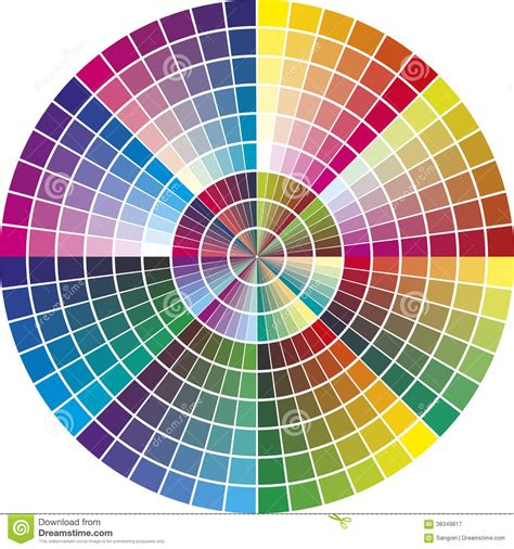 vector color chart stock vector illustration