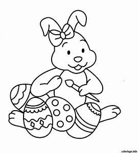 Oeuf Paques Dessin : coloriage lapin de paques oeufs maternelle dessin ~ Melissatoandfro.com Idées de Décoration