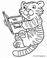 Tiger Coloring Baby Tigers Reading Pages Cute Colouring Printable Template Clipart Cub Cubs Jungle Animals Books Fun Cartoon Print Sheet sketch template