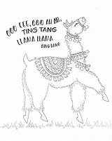 Llama Drawing Coloring Alpaca Printable Lama Adult Sheets Dancing Pencils Colored Colouring Birthday Printables Llamas Tombow Funny Usa Drama Tombowusa sketch template