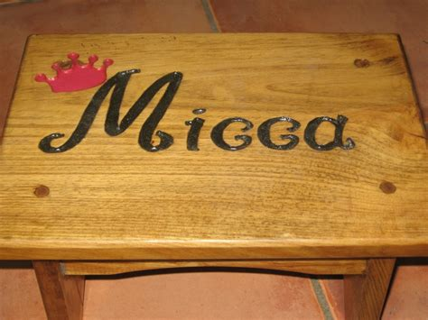 engraved  stepstool  making  stencil  carving