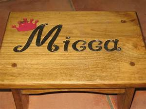 engraved a stepstool by making a stencil and carving out With wood carving letter templates