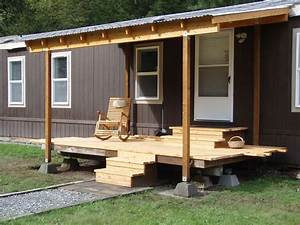 Front Porch Designs For Mobile Homes Homesfeed With Image ...