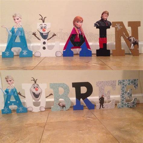 frozen wooden customized letters  creativedreamsevents