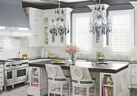 chandeliers for kitchen islands 37 gorgeous kitchen islands with breakfast bars pictures 5223