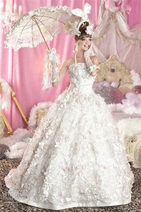 cutest wedding dresses peachy pink wedding dresses wedding inspirasi