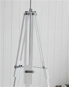 White wooden lexington floor lamp new england furniture for Lexington floor lamp chrome