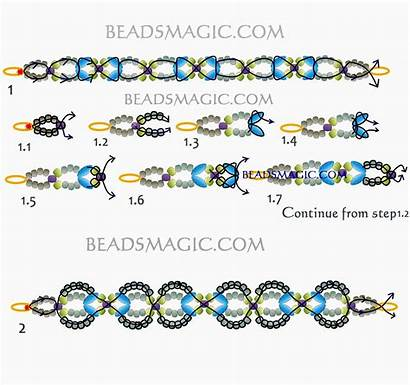 Bracelet Pattern Beads Beadsmagic Bracelets Patterns Beaded