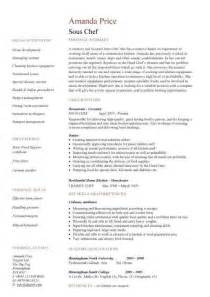 Chef Cover Letter Sous Chef Resume Cv Exles What Is A Sous Chef Junior Sous Chef Responsibilities Cv