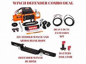 Land Rover Defender Winch   Winch Bumper   Wiring Kit   Isolator Combo