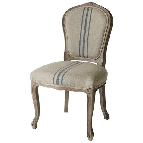 chaise et bleue chaise en et chêne massif beige et bleue adélaïde maisons du monde