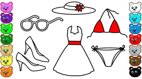set  clothes  mom coloring pages youtube