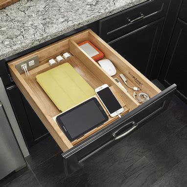 kitchen charging station organizer charging drawer 21 quot kraftmaid 6548