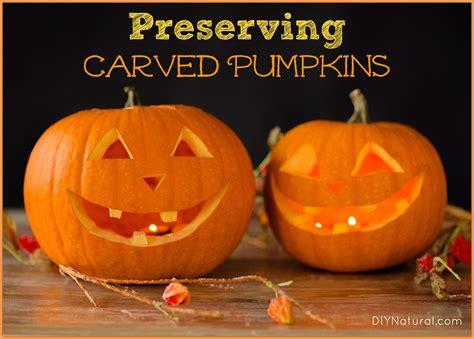 preserving carved pumpkins